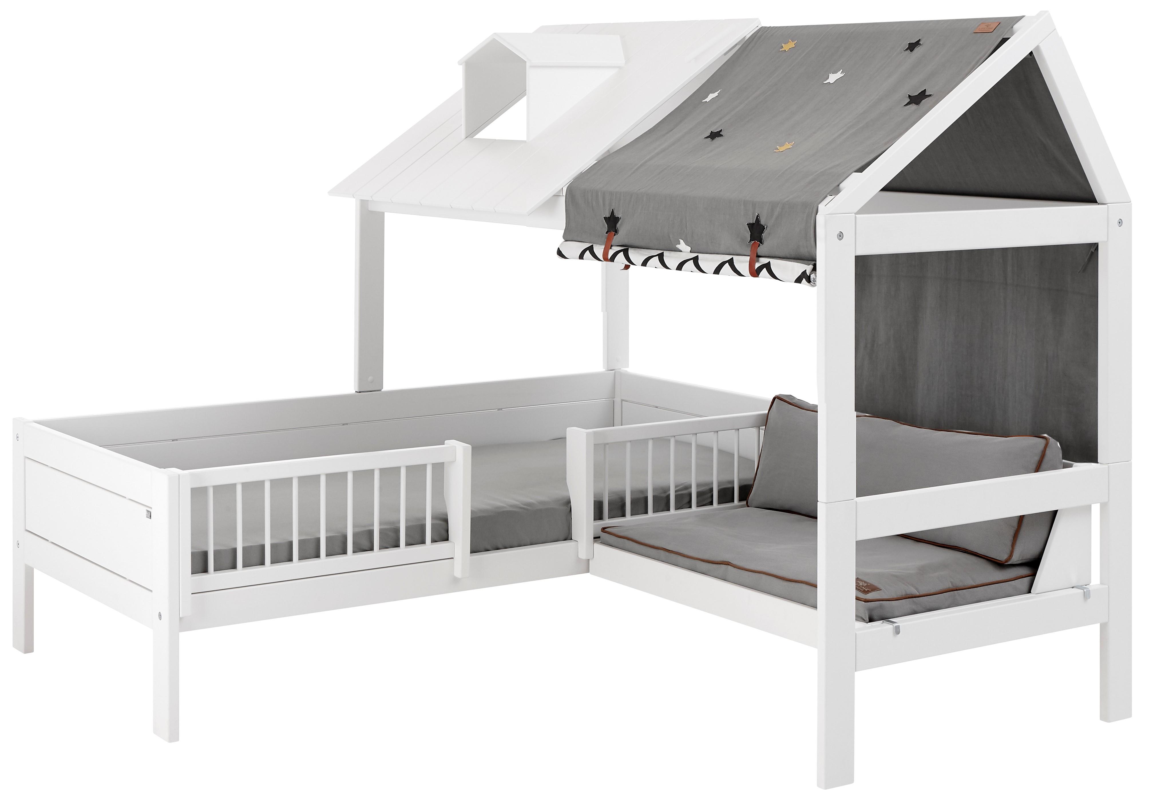 Lifetime Hüttenbett aus Kiefer  - Beachhouse-Corner - mit Bank