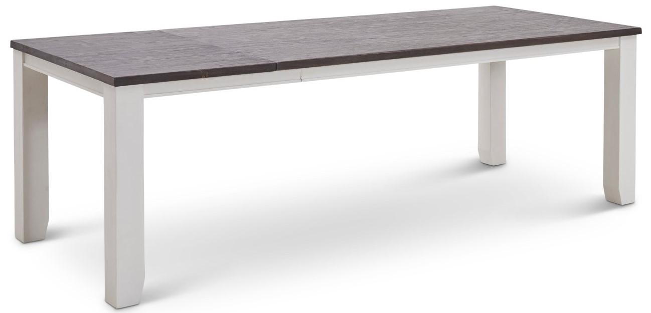 Esstisch Wellington - BL ca. 100x180 cm, Tisch verlängerbar (Klappeinlage einseitig) weiß