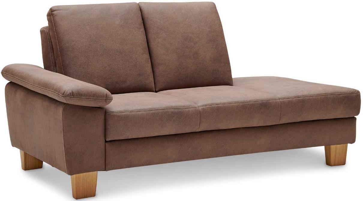 Sofa Stonington Country - Recamiere links, Stoff braun