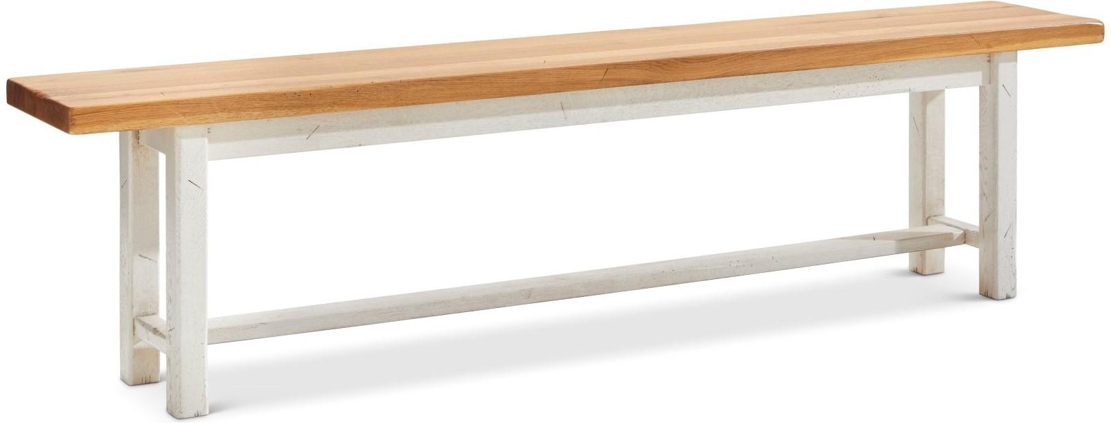 Holzbank Calverton - ca. 180 cm, ohne Lehnen, Eiche massiv