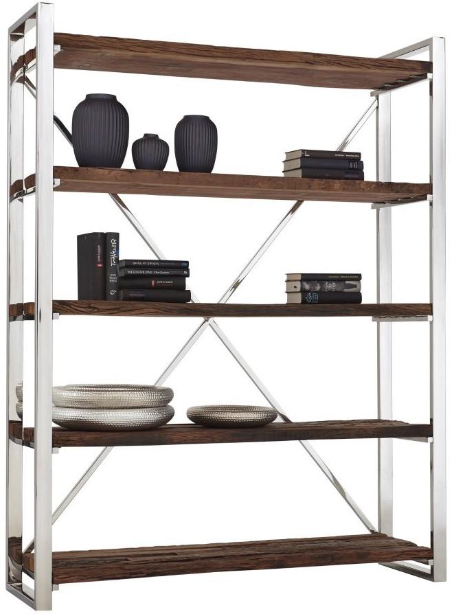 Bücherregal Lebensart Rockfort aus Recyclingholz Edelstahl