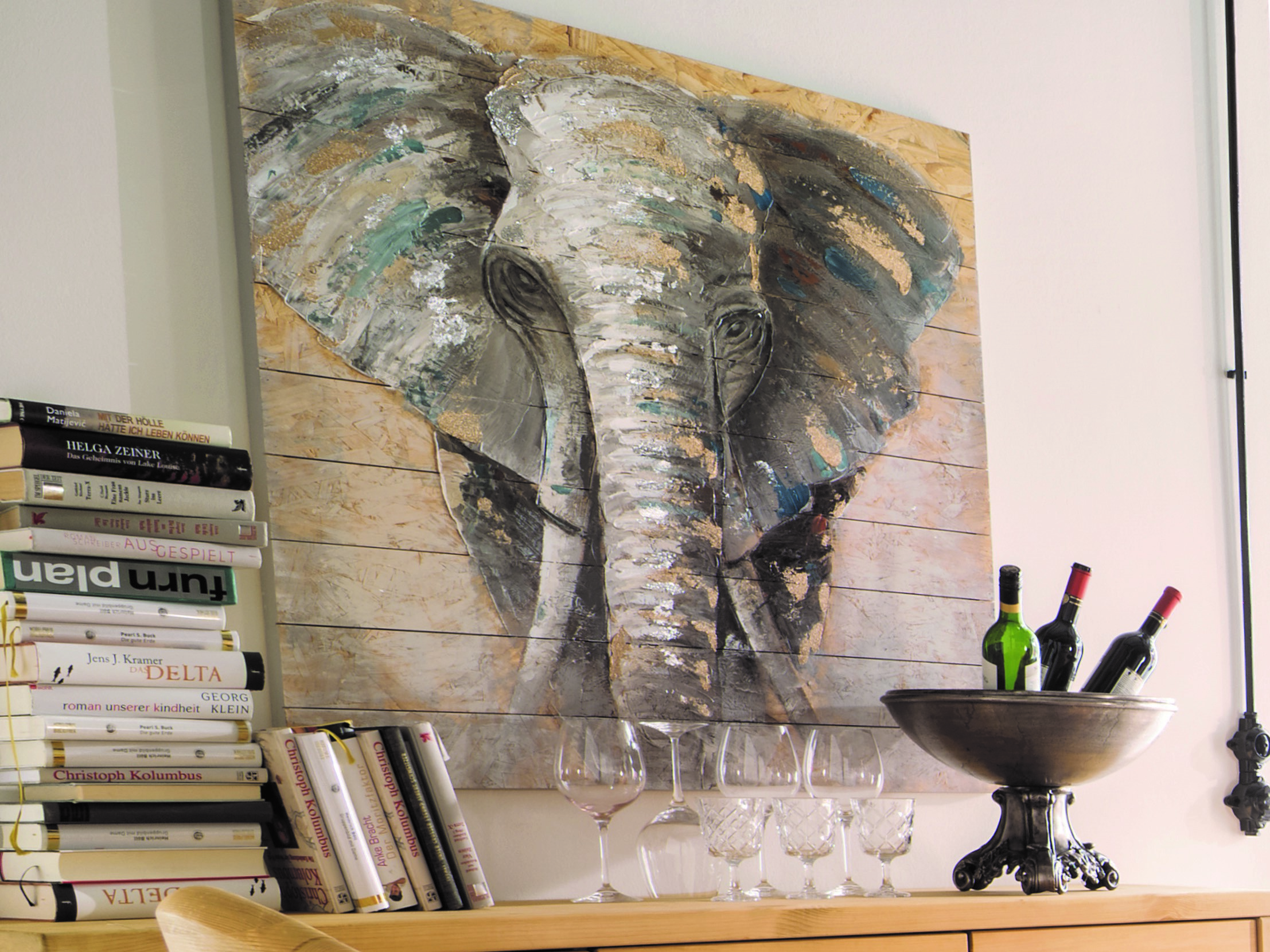 """Holzwandbild """"Elefant"""""""