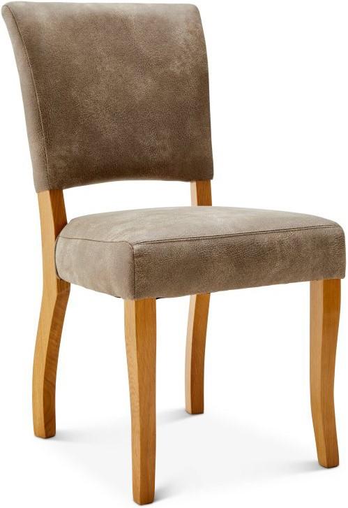 Stuhl Calverton - Stoff, Beige, ohne Armlehne beige