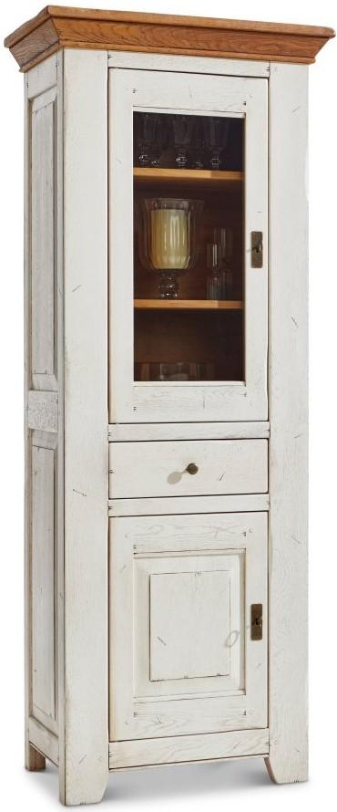Vitrine Calverton - BHT ca. 75x190x48 cm weiß