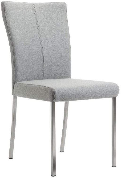 Stuhl 4110 - Wolle hellgrau, ohne Armlehne