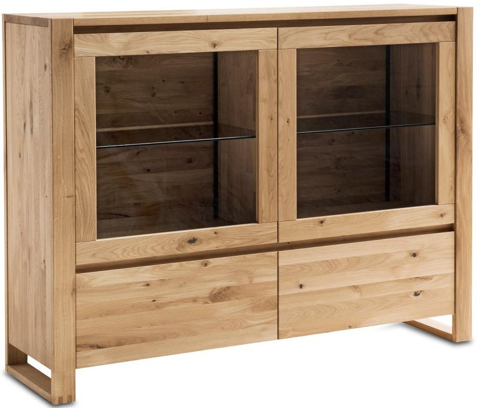 Highboard Lancaster Wildeiche massiv - legno geölt