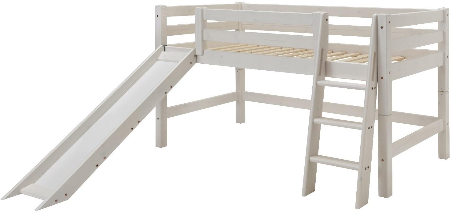 Halbhohes Bett mit Rutsche