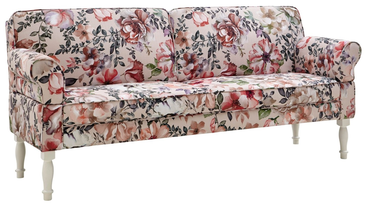 Sofa Washington - 3,5-Sitzer, Armlehne verstellbar (manuell), Flachgewebe, mehrfarbig