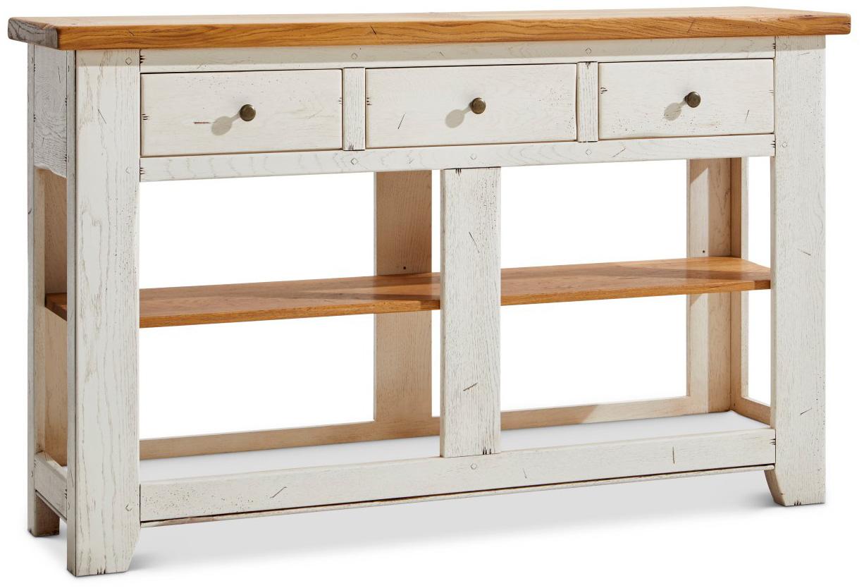 Beistelltisch (Konsole) Calverton - BHT ca. 149x91x38 cm weiß