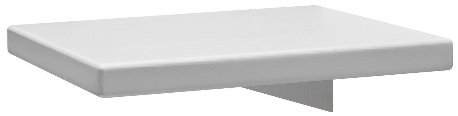 Nachttisch 1660 - Kiefer massiv, weiß lackiert weiß