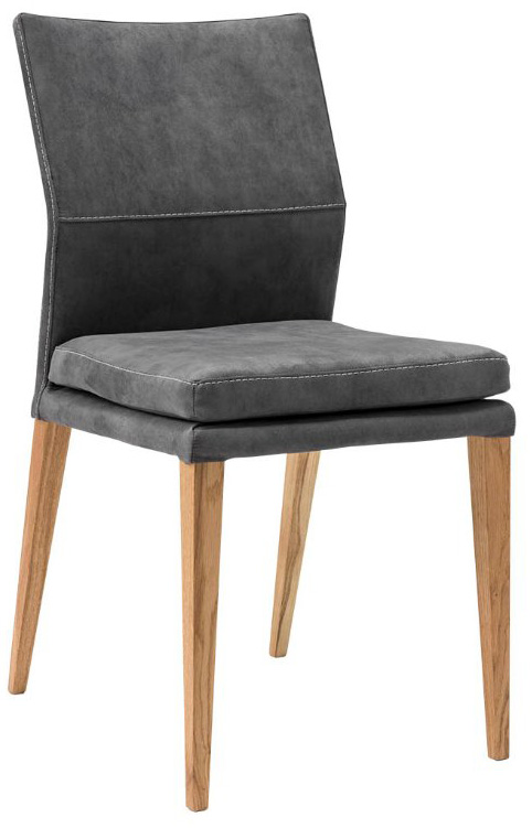 Stuhl Carry - Stoff, Anthrazit, ohne Armlehne grau