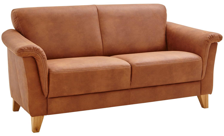 Sofa Providence - 2,5-Sitzer, Leder & Stoff braun