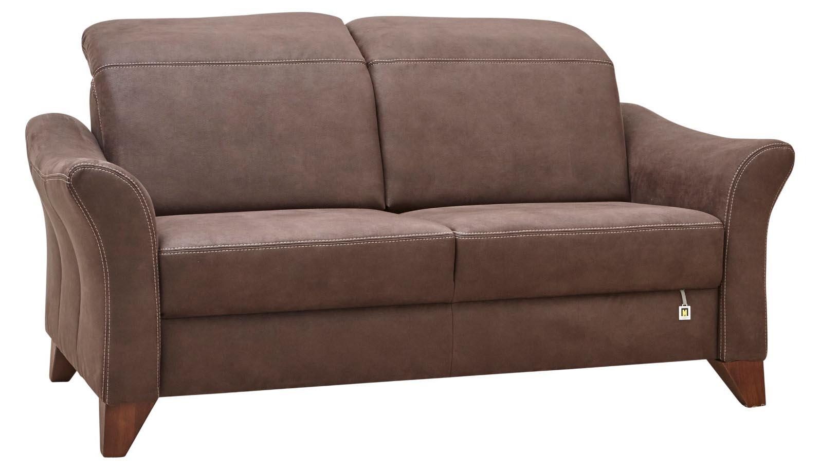 2,5 Sitzer Sofa Lebensart Canterbury braun mit dunklen Füßen braun