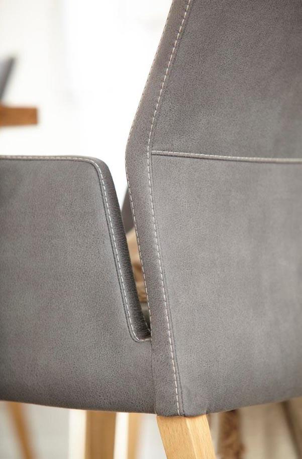 Armlehnstuhl Carry - Stoff, anthrazit grau