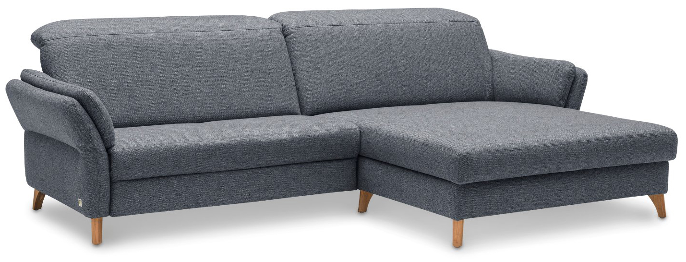 Ecksofa Stonington Style - 1-Sitzer, Longchair rechts, Stoff graphit-grau