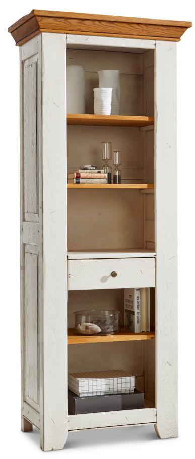 Regal Calverton - BHT ca.75x190x48 cm weiß