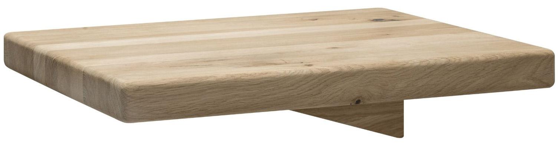 Nachttisch 1660 - Wildeiche massiv, bianco geölt Holzfarben
